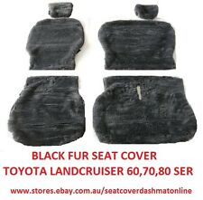 BLACK FUR SEAT COVER (ARTIFICIAL SHEEPSKIN )FIT TOYOTA LANCRUISER 60,70,80SERIES