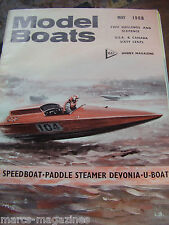 MODEL BOATS MAY 1968 SNAPPER TAIHO AIRCRAFT CARRIER KEARSAGE OLIVER TIGER MKIV