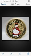 2006 tuvalu hello kitty gold plated 999silver  coin