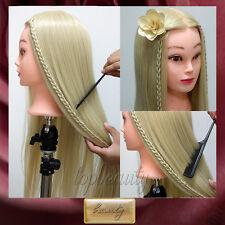 """26"""" humano real 30% súper Formación cabeza de muñeca peluquería Mannequin Head"""