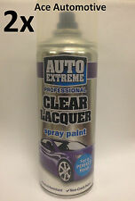 2x Automotive Clear Lacquer Spray Paint Aerosol Can Auto Extreme 400ml On Sale