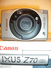BOXED CANON IXUS Z70  QUARTZ DATE~PANORAMA APS FILM CAMERA~23-69MM LENS (23D12)