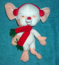 "WARNER BROTHERS  ANIMANIACS 9"" PINKY AND THE BRAIN CHRISTMAS PLUSH BEAN BAG"