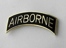 ARMY AIRBORNE DIVISION US ARMY TAB MILITARY LAPEL PIN BADGE 1.1 INCHES