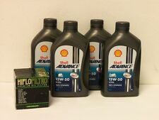 Shell Advance ultra 4t 15w-50/filtro aceite ducati 899 Panigale BJ 13 - 16