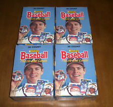 4 1988 DONRUSS BASEBALL CARD UNOPENED WAX BOXES