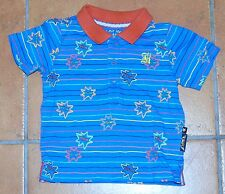 Boys Baby K By Myleene Klass Blue and Orange Polo Shirt age 6-9 months