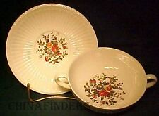 WEDGWOOD china CONWAY AK8384 pattern Cream Soup Bowl & Saucer