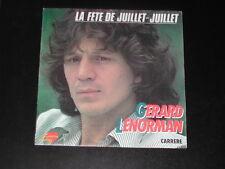 45 tours SP  - Gérard LENORMAND - La fête de juillet-juillet - 1979