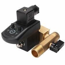 """AC 220v 1/2"""" Electronic Timed Air Compressor Automatic 2-way Drain Valve Tank"""