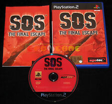 SOS THE FINAL ESCAPE Ps2 Versione Inglese  1ª Edizione ••••• COMPLETO