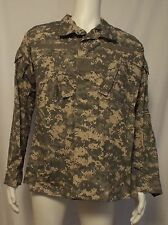 US Army Combat Uniform ACU Digital Camo Ripstop Jacket Shirt Meduim Regular LB2
