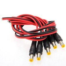 5x DC Maennlich Male Stecker 2,1mm Adapter Anschlusskabel fuer CCTV DE
