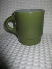 Vintage Fire King Avocado Green Stackable Coffee Cup Mug #2