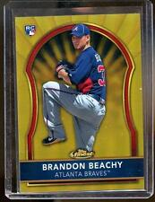 2011 Topps Finest BRANDON BEACHY RC ROOKIE GOLD REFRACTOR #23/50