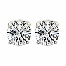 1Pair Stylish Unisex Mens Womens Clear Crystal Magnet Earring Earrings Stud Hot