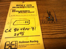 Boyesen 06-400 Racing reed kit for CR80  (thru 81)