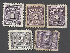CANADA - FIVE DIFFERENT POSTAGE DUES - USED