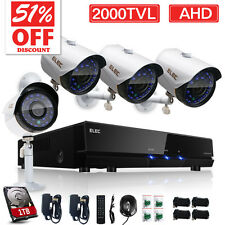 ELEC® 8CH 720P AHD DVR 2000TVL Outdoor Home Security Camera CCTV System Kit 1TB