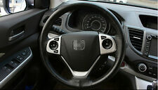 ABS Chrome matt Steering wheel cover trim For Honda CRV CR-V 2012 2013 2014 2015