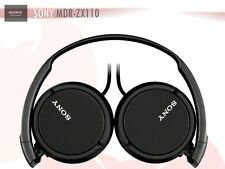 BLACK Sony Headphones MDR-ZX110 Overhead Foldable Stereo Sound Headband