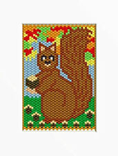 Nutty Squirrel Beaded Banner Pattern