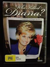 WHO KILLED DIANA? DVD ~ CONSPIRACY....or TRAGIC ACCIDENT? ~ FREE POST
