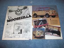 "1960 VW Transporter Topless Bus Vintage Article ""Moosezilla"""