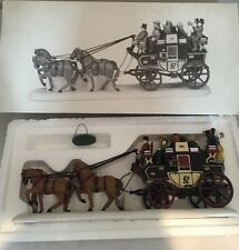 Dept 56 Heritage Village HOLIDAY COACH Christmas Carriage Horse  #55611 Box