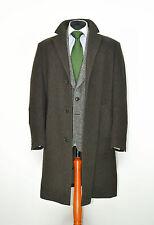 Mens HUGO BOSS Stratus Coat Jacket Herringbone Brown SZ 54