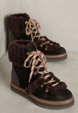 New Anthropologie Size 39 (8) See By Chloe Shearling Lace-Up Boots ($418)