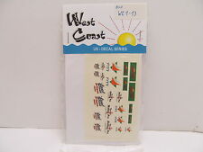 MES-48783 West Coast WE1-13 US Decals 1:87,mit Original Verpackung,