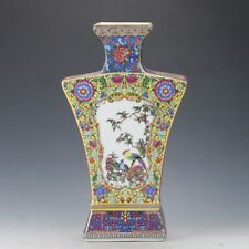 Chinese Cloisonne Famille Rose Porcelain Painted Flower & Bird Vase A