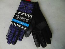 Isotoner SmarTouch Marbled Cable Knit Gloves Thermaflex Lining Violet M/L #C131