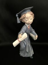 """~FREE Fast Shipping~Lladro """"Cap and Gown"""" Graduation/Child (6271 Mint in Box)"""