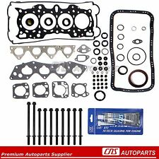 90-95 Honda Acura Integra 1.8L Full Gasket Set w/ Head Bolts Kits B18A1 B18B1