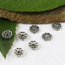 100pcs Tibetan silver 6mm flower bead caps h1703