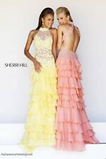 Sherri Hill 11052 Yellow Pageant Gala Gown Dress sz 2