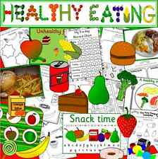 Healthy Eating topic resource CD- food and drink, EYFS, KS1, fruit and Vegetable
