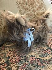 """WIZARD OF OZ - TOTO PLUSH DOG 9"""" BY RUBIES- TURNER ENT. BLUE & WHITE BOW # B5"""