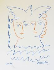 PABLO PICASSO FEMMES A LA COLOMBE SIGNED HAND NUMBERED 718/1000 LITHOGRAPH DOVE
