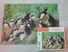 "Puffins Sierra Club Pomegranate Kids Jigsaw Puzzle 300 Pieces 24""x18"" EUC"