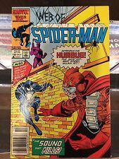 WEB OF SPIDER-MAN #19 1ST HUMBUG FROM MERCS FOR MONEY ALSO FIRST SOLO VF-