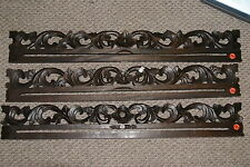Hand carved Lacy Foliage Wood Textile Wall Display Drapes' Hanger Rod Rack 383,5