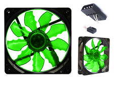 2 PCS Game Demon 12cm 120mm Green Ultra Silent LED Acrylic Bat Leaf PC Case Fan