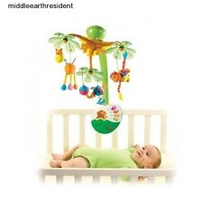 Mobile Baby Infant Musical Lullaby Nursery Crib Motion Nature Light Up Remote
