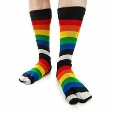 JAPANESE Ninja Tabi Socks 'RAINBOW' Geta Flip Flop Yoga Socks- Senior