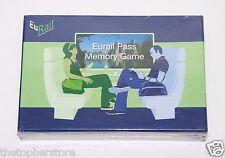 Vintage Eurail Pass Memory Game - Euro,Trains, France, England, Pass, Souvenir