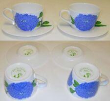 Iittala Primavera Finnish Blue Tea Cups & Saucers Maija Isola Marimekko Finland