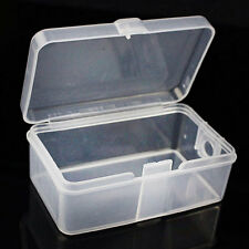 2pcs Clear Plastic Transparent With Lid Storage Box Collect Container Case